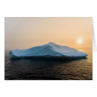 Iceberg at Sunset near Hantzsch Island, Nunavut Card
