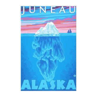 Iceberg Cross-Section - Juneau, Alaska Canvas Print