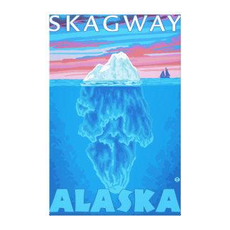 Iceberg Cross-Section - Skagway, Alaska Canvas Print