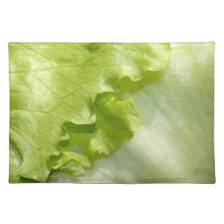 Iceberg lettuce leaf placemat