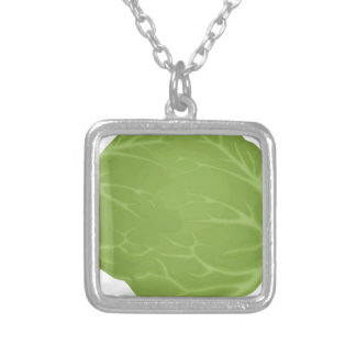 Iceberg Lettuce Silver Plated Necklace
