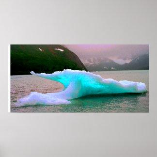 Iceberg, Portage Lake, AK Poster