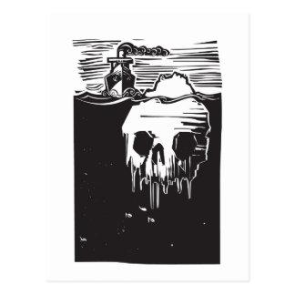 Iceberg Skull Postcard