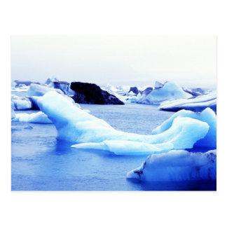 Icebergs at Jokulsarlon Lagoon Postcard