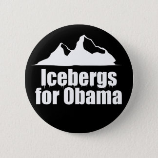 Icebergs for Obama 2 Inch Round Button
