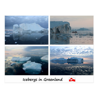 Icebergs in Greenland Postcard