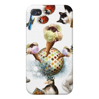 Icecream/Cute Animals Case For The iPhone 4
