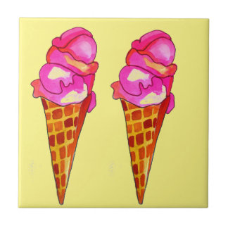icecream gelato cute food art tile