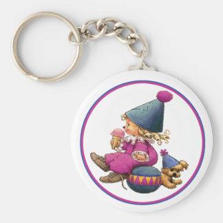 IceCream Toddler Basic Round Button Keychain
