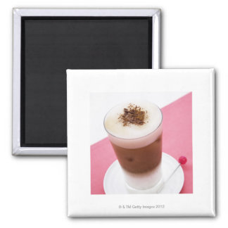 Iced Cappuccino Square Magnet