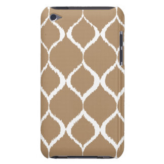Iced Coffee Geometric Ikat Tribal Print Pattern Barely There iPod Cases