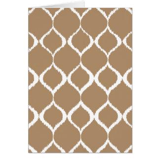 Iced Coffee Geometric Ikat Tribal Print Pattern Card