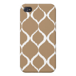 Iced Coffee Geometric Ikat Tribal Print Pattern Case For The iPhone 4