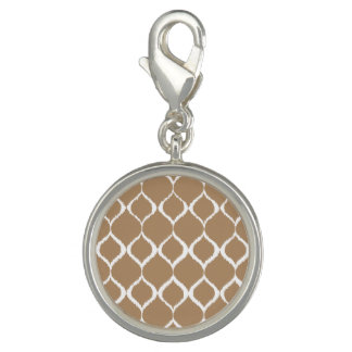 Iced Coffee Geometric Ikat Tribal Print Pattern Charm