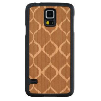 Iced Coffee Geometric Ikat Tribal Print Pattern Cherry Galaxy S5 Slim Case