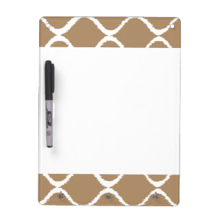 Iced Coffee Geometric Ikat Tribal Print Pattern Dry Erase Board