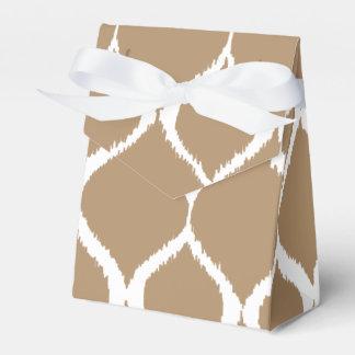 Iced Coffee Geometric Ikat Tribal Print Pattern Favor Box