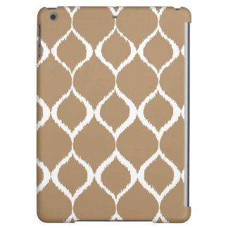 Iced Coffee Geometric Ikat Tribal Print Pattern iPad Air Cases