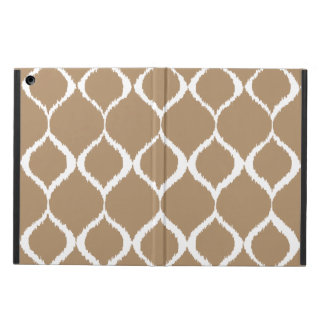 Iced Coffee Geometric Ikat Tribal Print Pattern iPad Air Cover