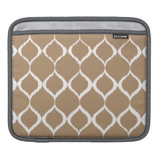 Iced Coffee Geometric Ikat Tribal Print Pattern iPad Sleeve
