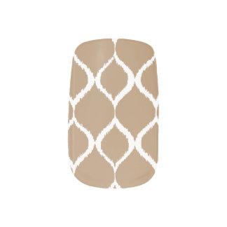 Iced Coffee Geometric Ikat Tribal Print Pattern Minx Nail Art