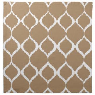 Iced Coffee Geometric Ikat Tribal Print Pattern Napkin