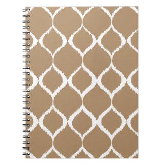 Iced Coffee Geometric Ikat Tribal Print Pattern Notebook