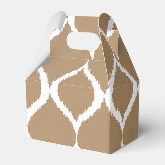 Iced Coffee Geometric Ikat Tribal Print Pattern Party Favor Box