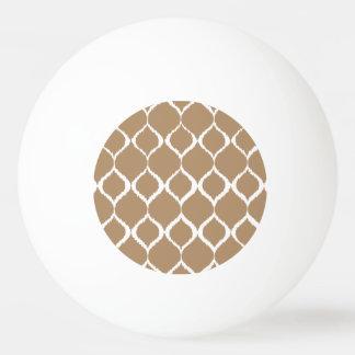 Iced Coffee Geometric Ikat Tribal Print Pattern Ping Pong Ball