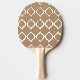 Iced Coffee Geometric Ikat Tribal Print Pattern Ping Pong Paddle