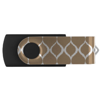 Iced Coffee Geometric Ikat Tribal Print Pattern USB Flash Drive