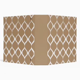 Iced Coffee Geometric Ikat Tribal Print Pattern Vinyl Binder