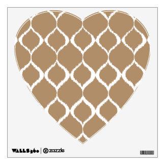 Iced Coffee Geometric Ikat Tribal Print Pattern Wall Decal