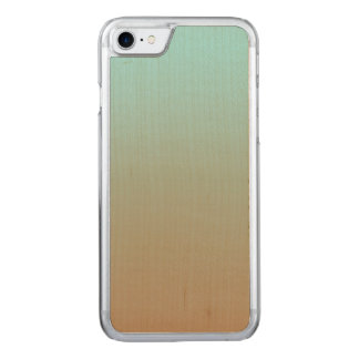 Iced Coffee Limpet Shell Aqua Sea Blue and Brown Carved iPhone 8/7 Case