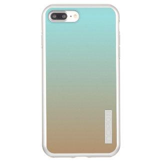 Iced Coffee Limpet Shell Aqua Sea Blue and Brown Incipio DualPro Shine iPhone 7 Plus Case
