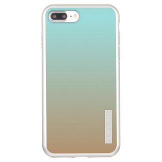 Iced Coffee Limpet Shell Aqua Sea Blue and Brown Incipio DualPro Shine iPhone 8 Plus/7 Plus Case