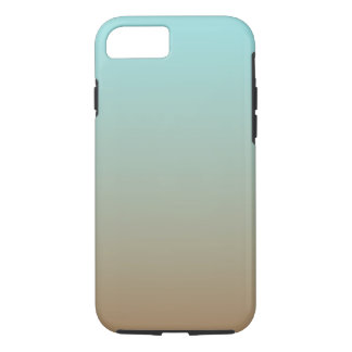 Iced Coffee Limpet Shell Aqua Sea Blue and Brown iPhone 8/7 Case