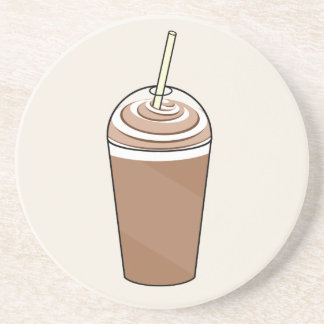 Iced Coffee To Go With Whipped Cream Coaster
