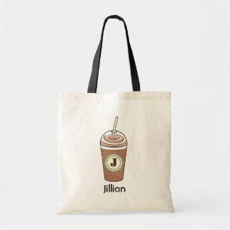 Iced Coffee To Go With Whipped Cream Monogram Bag