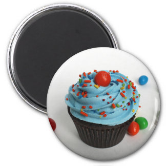 iced cupcake 2 inch round magnet