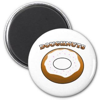 Iced Doughnut 2 Inch Round Magnet