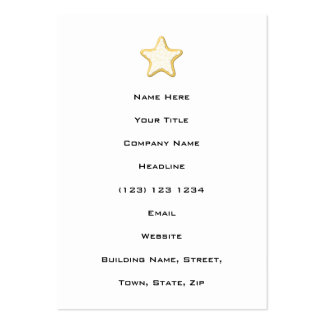 Iced Star Cookie. Yellow and White. Large Business Card