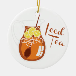 Iced Tea Ceramic Ornament