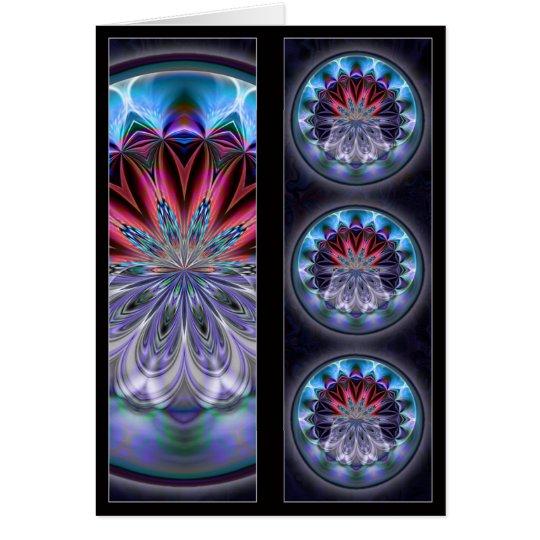 IceFire Mandala BookMark Card