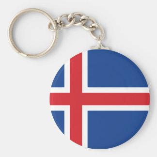 Iceland.ai Basic Round Button Keychain