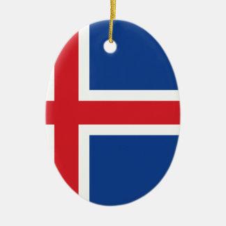 Iceland.ai Ceramic Oval Ornament