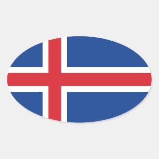 Iceland.ai Oval Sticker