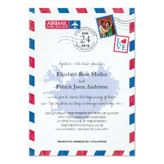 Iceland Airmail Wedding Invitation