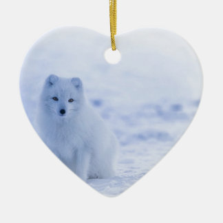Iceland Arctic Fox Ceramic Ornament