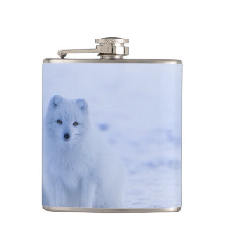 Iceland Arctic Fox Hip Flask